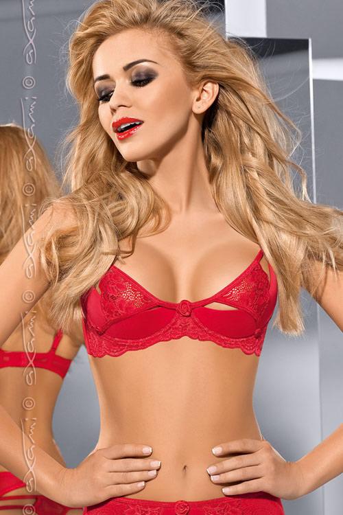Sexy rudá podprsenka Axami V-5361 Excite me