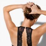 Bezešvá push-up podprsenka s úzkými zády