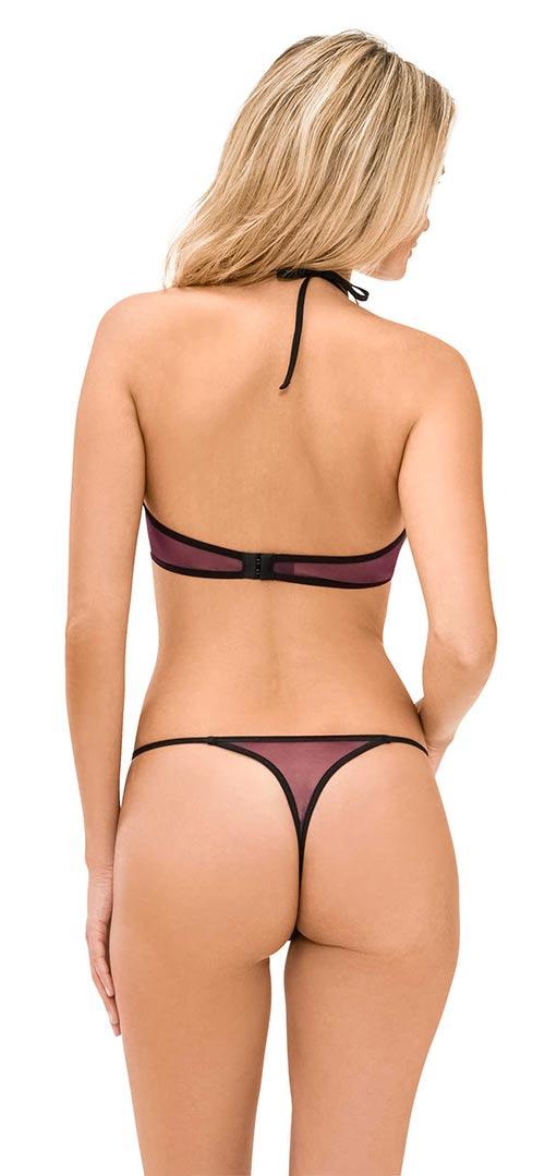 Fialové krajkové erotické spodní prádlo
