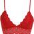 Červená krajková podprsenka s širokým lemem