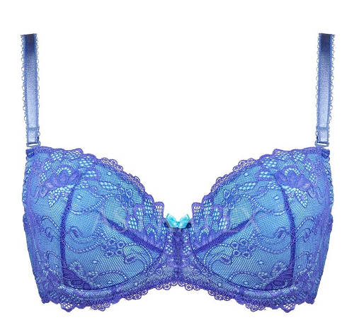 Modrá krajková podprsenka
