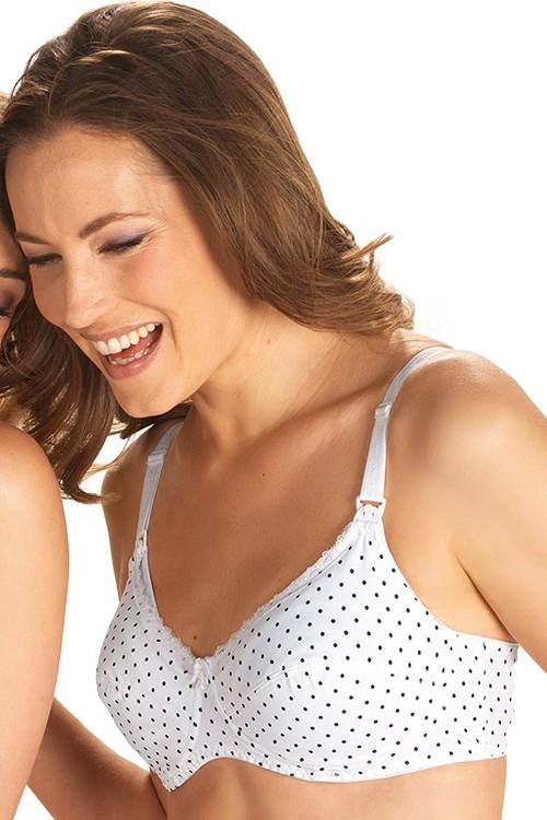 Puntíkovaná mateřská podprsenka na kojení
