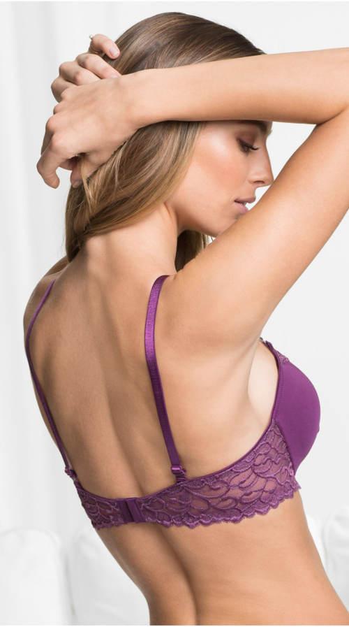 Sytě fialová dámská podprsenka