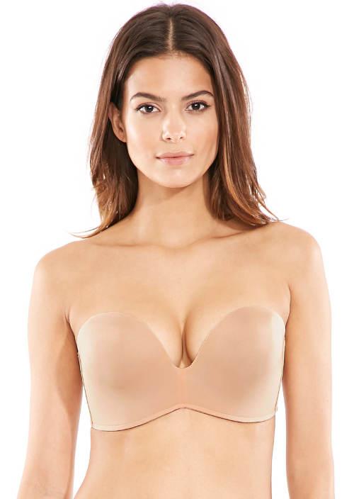 Tělová podrsenka pod šaty bez ramínek
