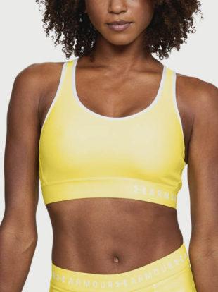 Žlutá dámská sportovní podprsenka