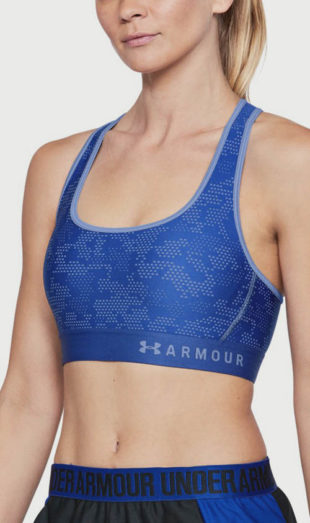 Modrá kompresní běžecká podprsenka Under Armour