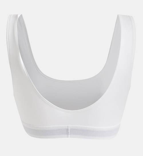 Bílá sportovní značková podprsenka