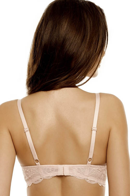 Starorůžová podprsenka s krajkovými zády
