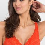 Oranžová podprsenka braletka nejen pro mladé