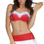 Vánoční kostým podprsenka a minisukně