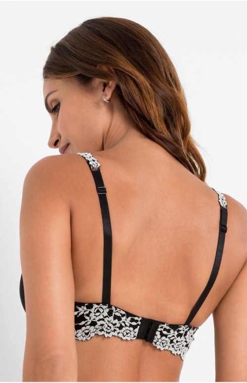 Černobílá krajková podprsenka Bonprix