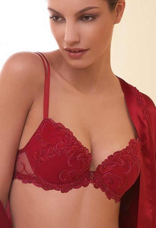 Luxusní červená dámská podprsenka Lise Charmel