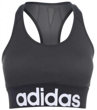 Šedá sportovní dámská podprsenka Adidas výprodej
