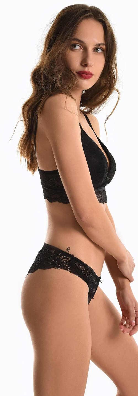 Černé krajkové dámské spodní prádlo výprodej