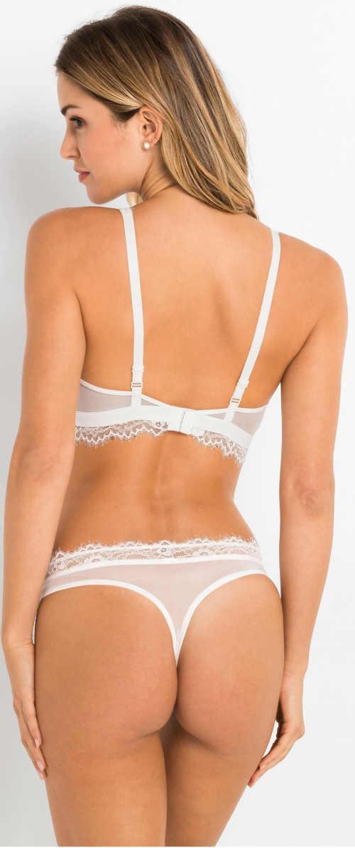 Levné bílé svůdné dámské spodní prádlo
