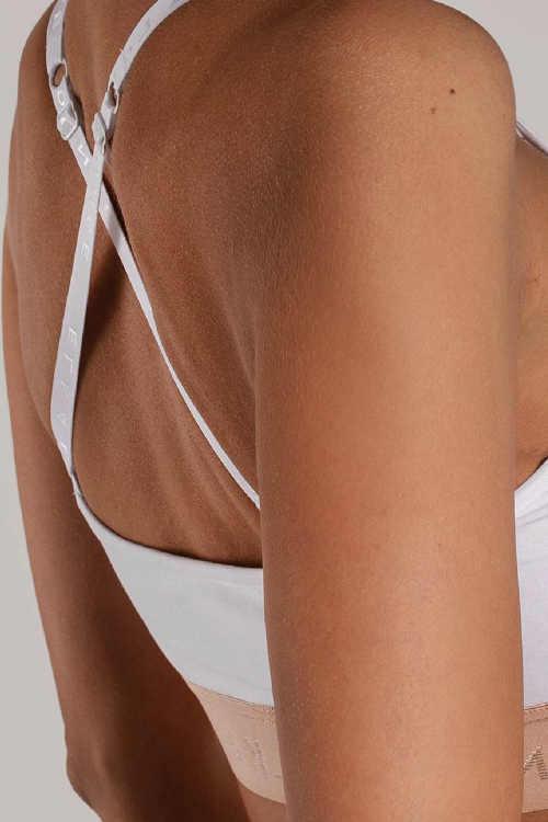 sportovní podprsenka s překřížením na zádech