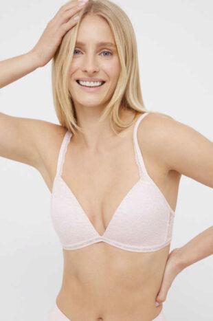 Dámská krajková moderní bílá podprsenka Calvin Klein