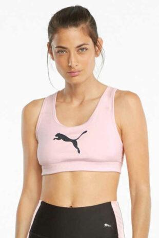 Sportovní podprsenka Puma v růžovém provedení